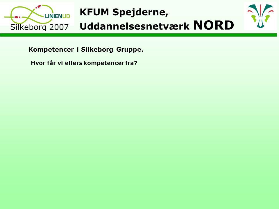 KFUM Spejderne, Uddannelsesnetværk NORD Silkeborg 2007 Kompetencer i Silkeborg Gruppe.