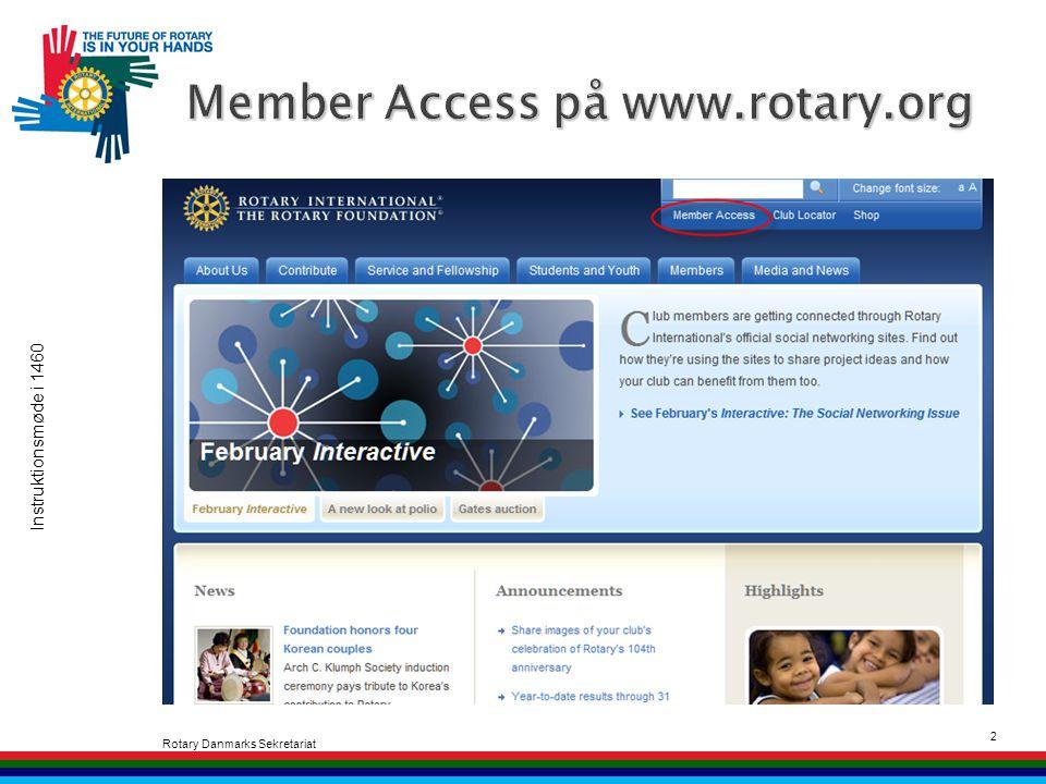 Instruktionsmøde i 1460 Rotary Danmarks Sekretariat 2