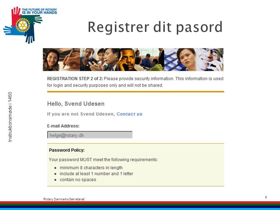 Instruktionsmøde i 1460 Rotary Danmarks Sekretariat 8