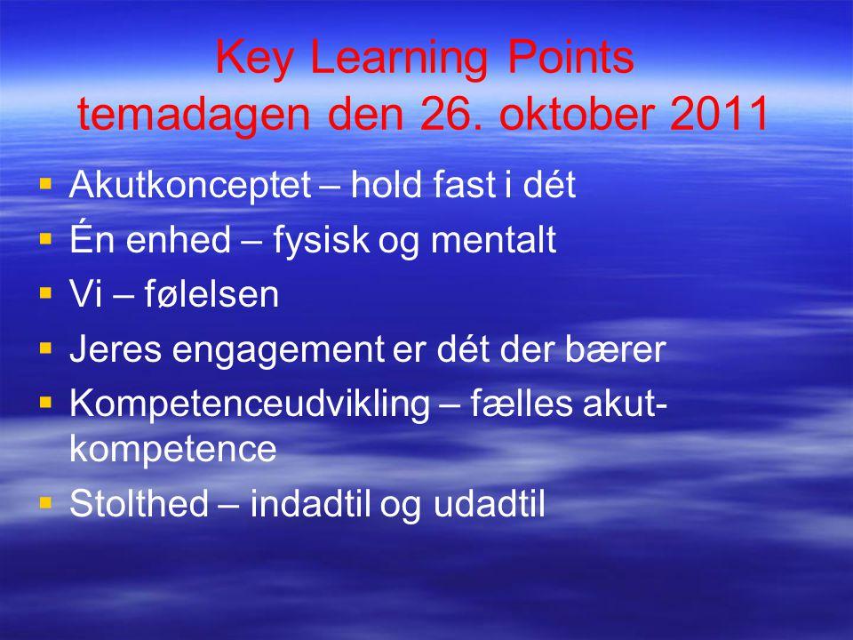Key Learning Points temadagen den 26.