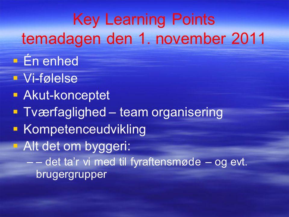 Key Learning Points temadagen den 1.