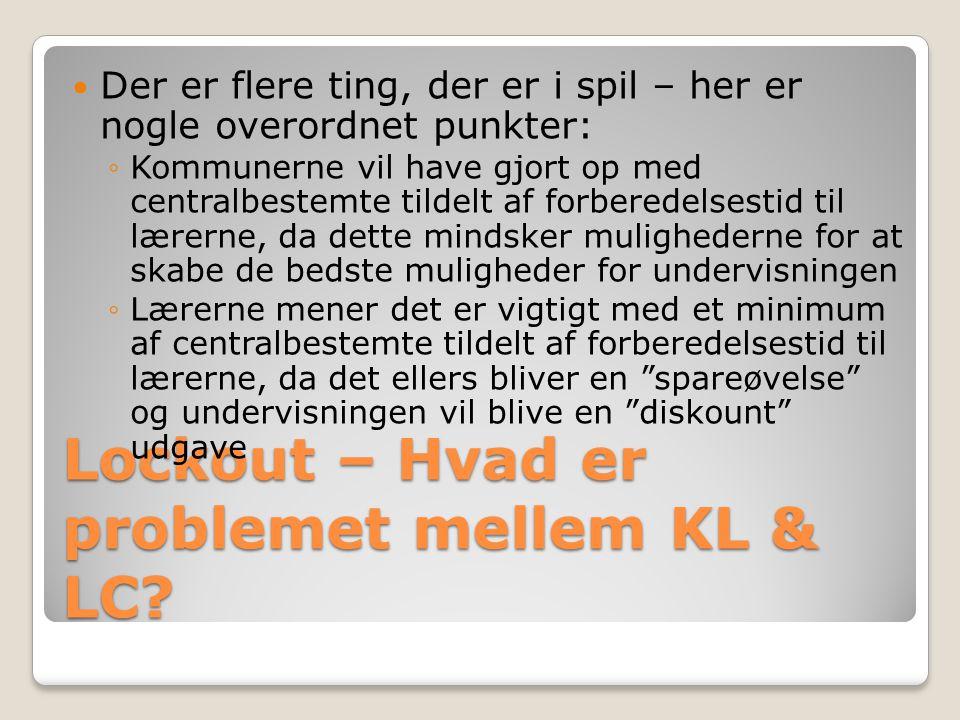 Lockout – Hvad er problemet mellem KL & LC.