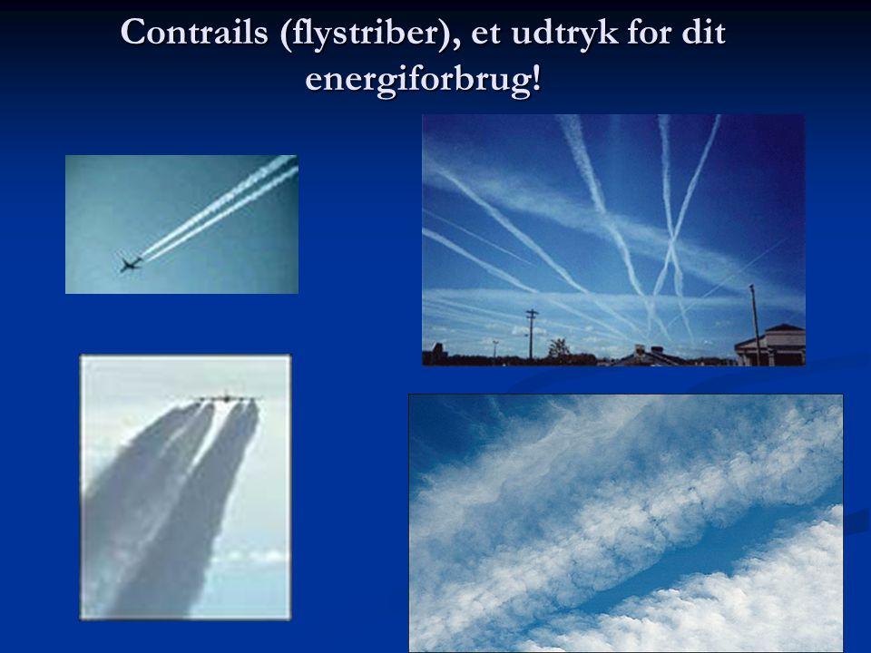 Contrails (flystriber), et udtryk for dit energiforbrug!