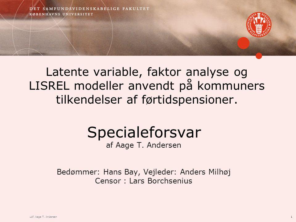 1udf. Aage T. Andersen Specialeforsvar af Aage T.