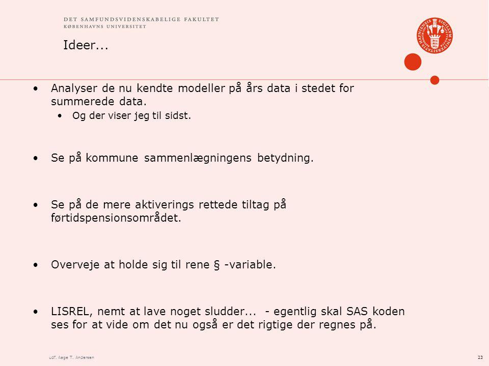 23udf. Aage T. Andersen Ideer...