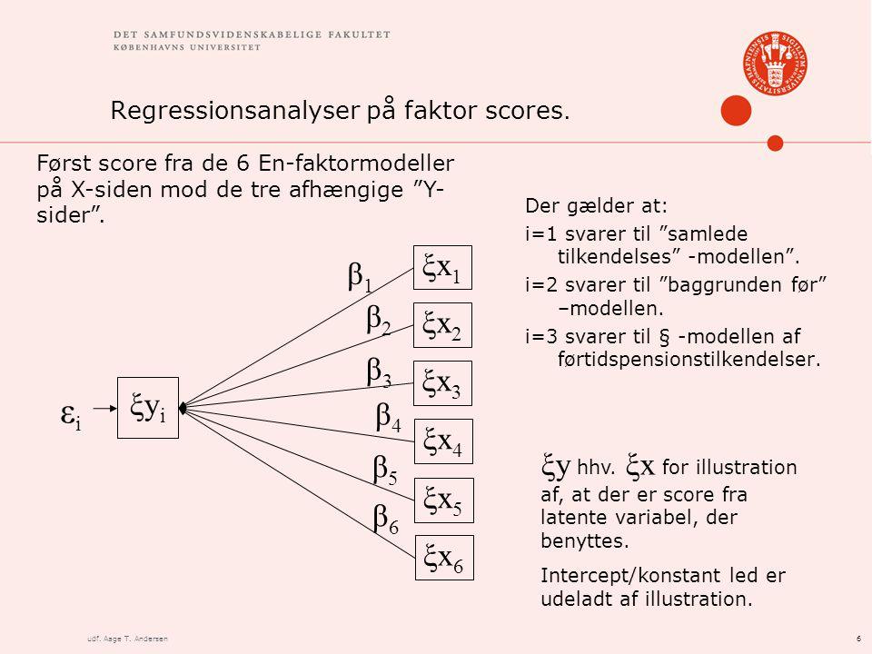 6udf. Aage T. Andersen Regressionsanalyser på faktor scores.