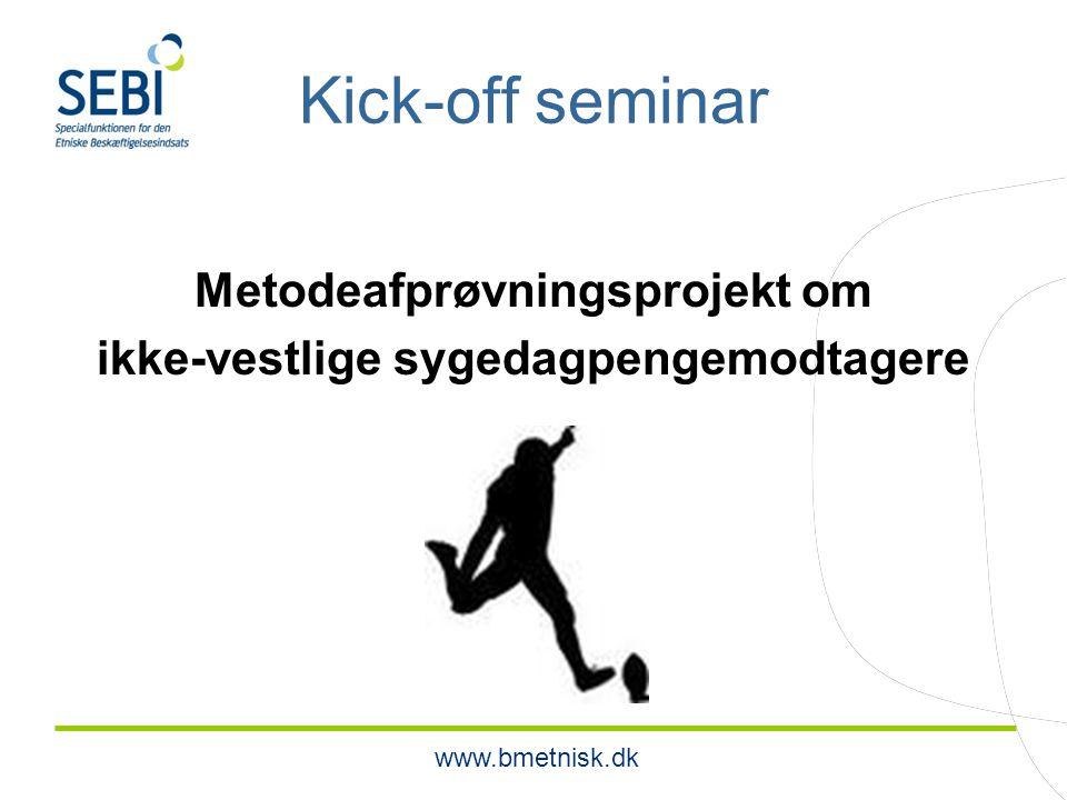 www.bmetnisk.dk Kick-off seminar Metodeafprøvningsprojekt om ikke-vestlige sygedagpengemodtagere