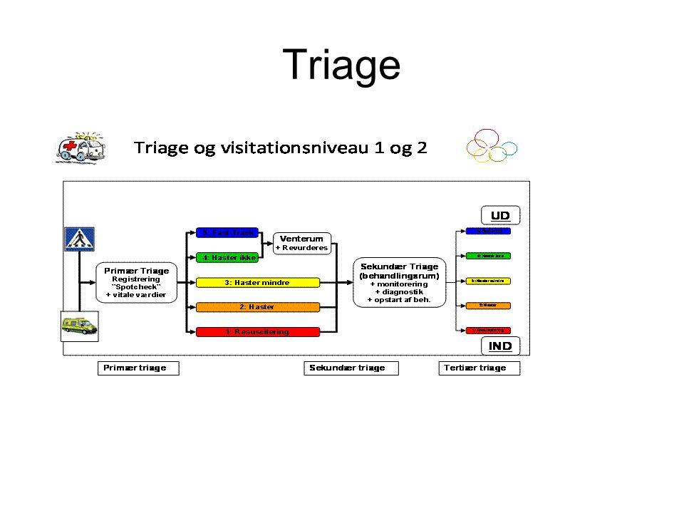 Case A: –Uklar tale, mumlen –Ingen stridorO2 B: –RF 20, –Egale thoraxbevægelser –St.p (enkelte ronchi) –Saturationsmåler (dårligt signal) –A-gas: PO2: 8,2 kPa, PCO2: 3,5 KpA SBE: -9, K+: 5,3 Na: 130, lactat: 5