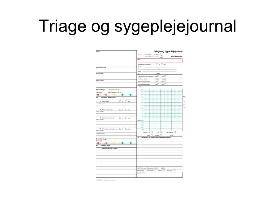 Triage og sygeplejejournal