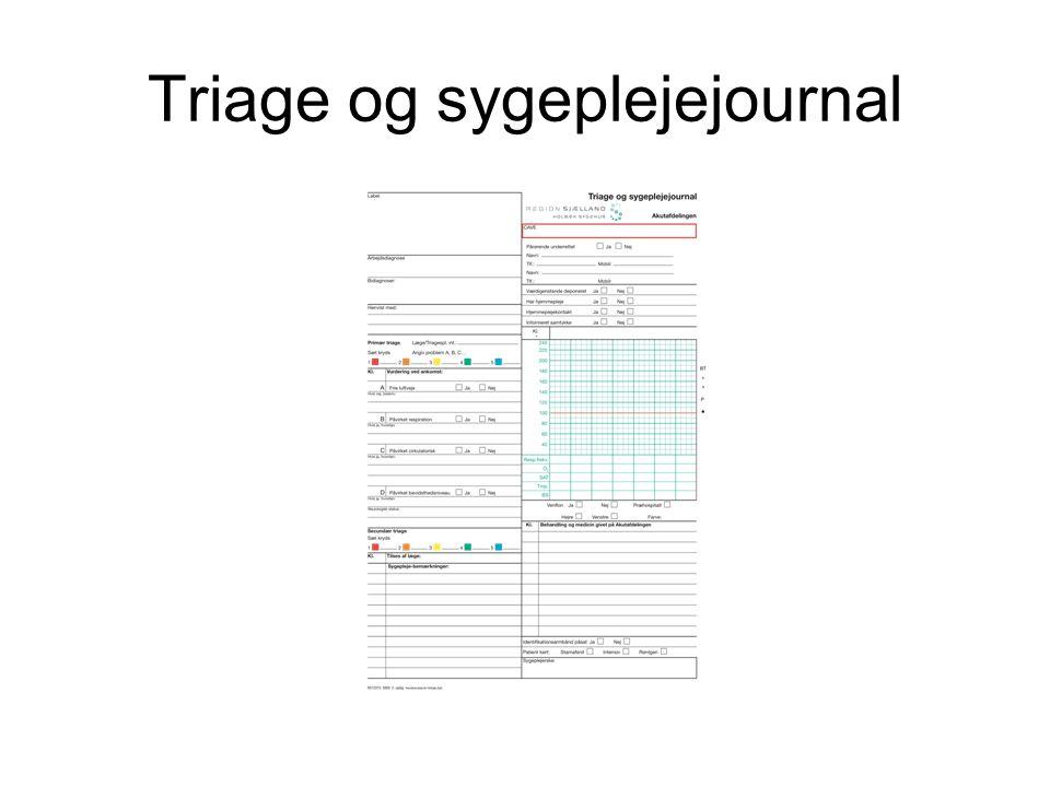 Case C: –Bleg, kold og klamtsvedende –BT: 87 / 42 P: 110 (regelmæssig) –CRT ~ 4 sekunder –EKG: Sinustakykardi.