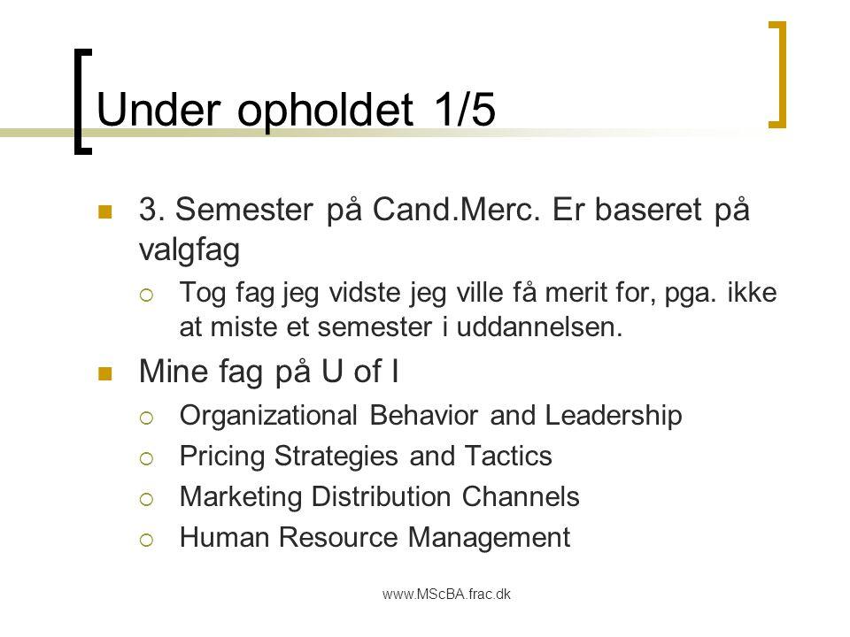 www.MScBA.frac.dk Under opholdet 1/5 3. Semester på Cand.Merc.