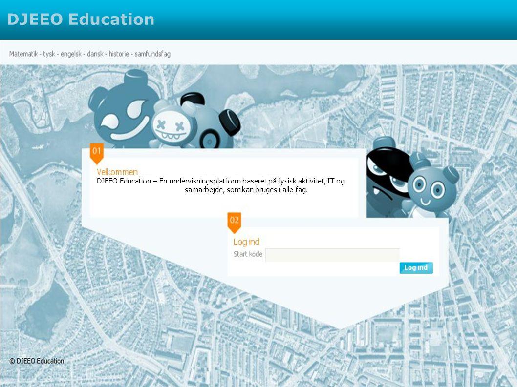 DJEEO Education – En undervisningsplatform baseret på fysisk aktivitet, IT og samarbejde, som kan bruges i alle fag.