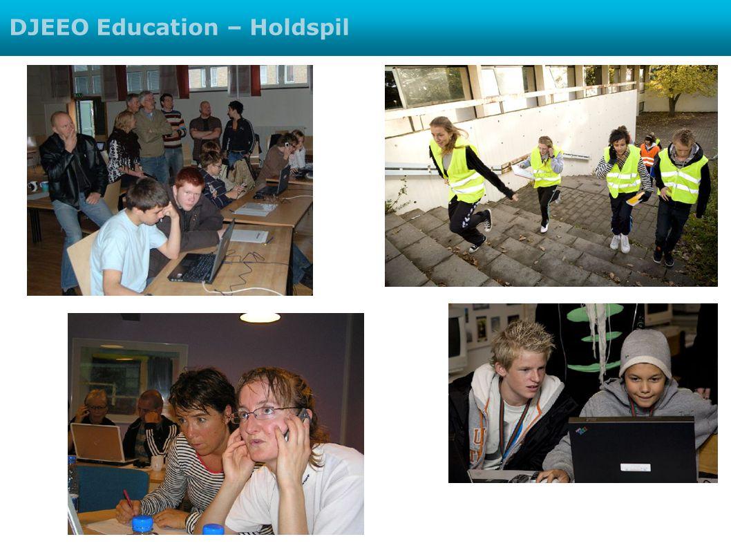 Faglige opgaver DJEEO Education – Holdspil