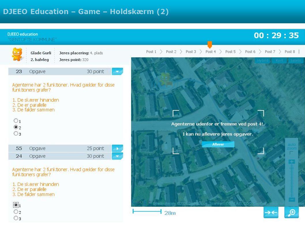 DJEEO Education – Game – Holdskærm (2)