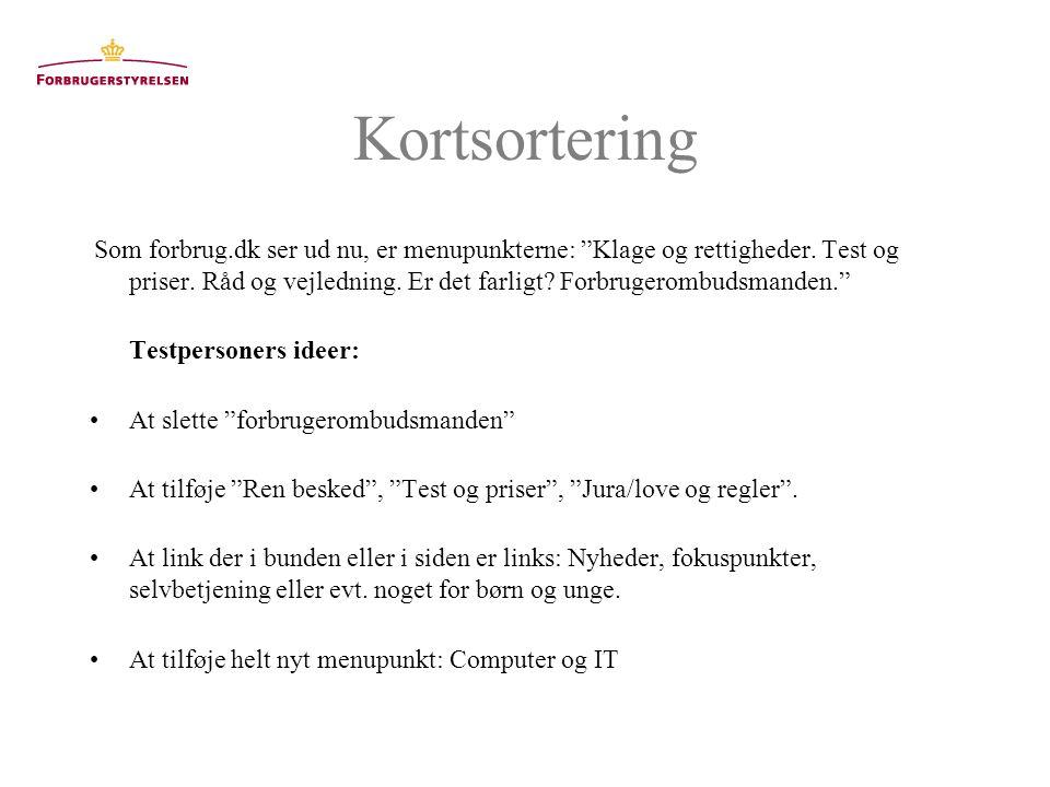 Kortsortering Som forbrug.dk ser ud nu, er menupunkterne: Klage og rettigheder.