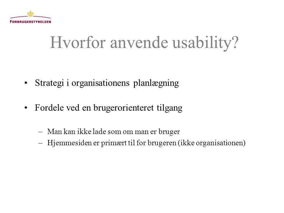Hvorfor anvende usability.