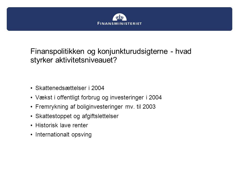 Finanspolitikken og konjunkturudsigterne - hvad styrker aktivitetsniveauet.