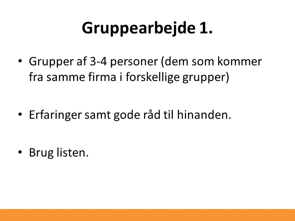 Gruppearbejde 1.