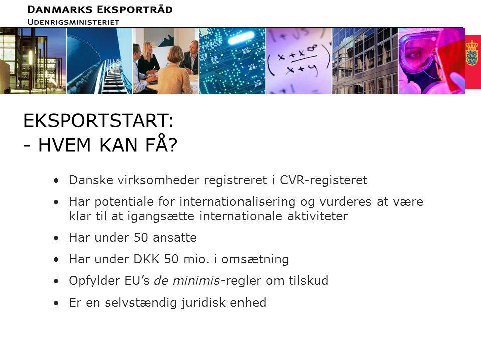 Minimum clear margin for text Fixed margin Keep heading in CAPITALS EKSPORTSTART: - HVEM KAN FÅ.