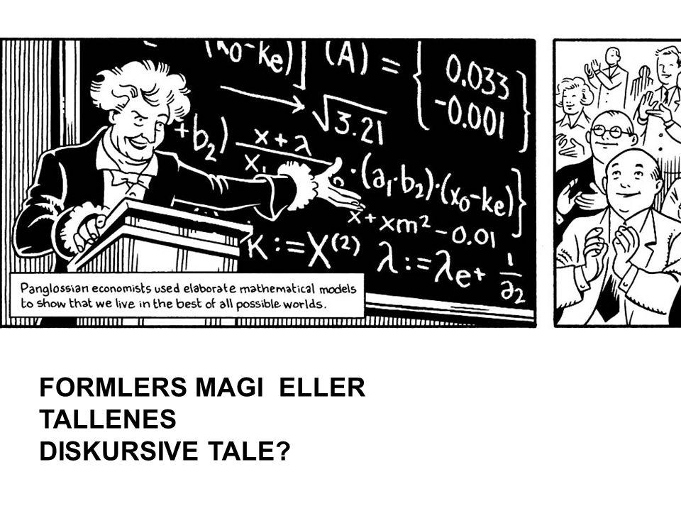 FORMLERS MAGI ELLER TALLENES DISKURSIVE TALE