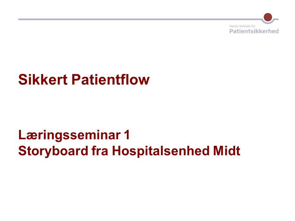 Sikkert Patientflow Læringsseminar 1 Storyboard fra Hospitalsenhed Midt