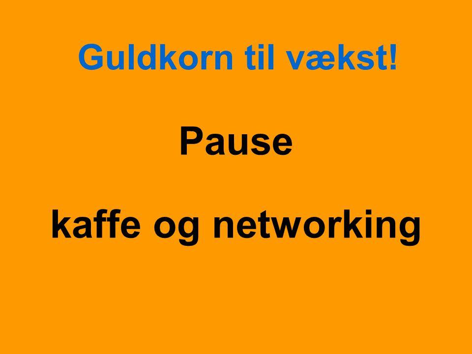 Guldkorn til vækst! Pause kaffe og networking