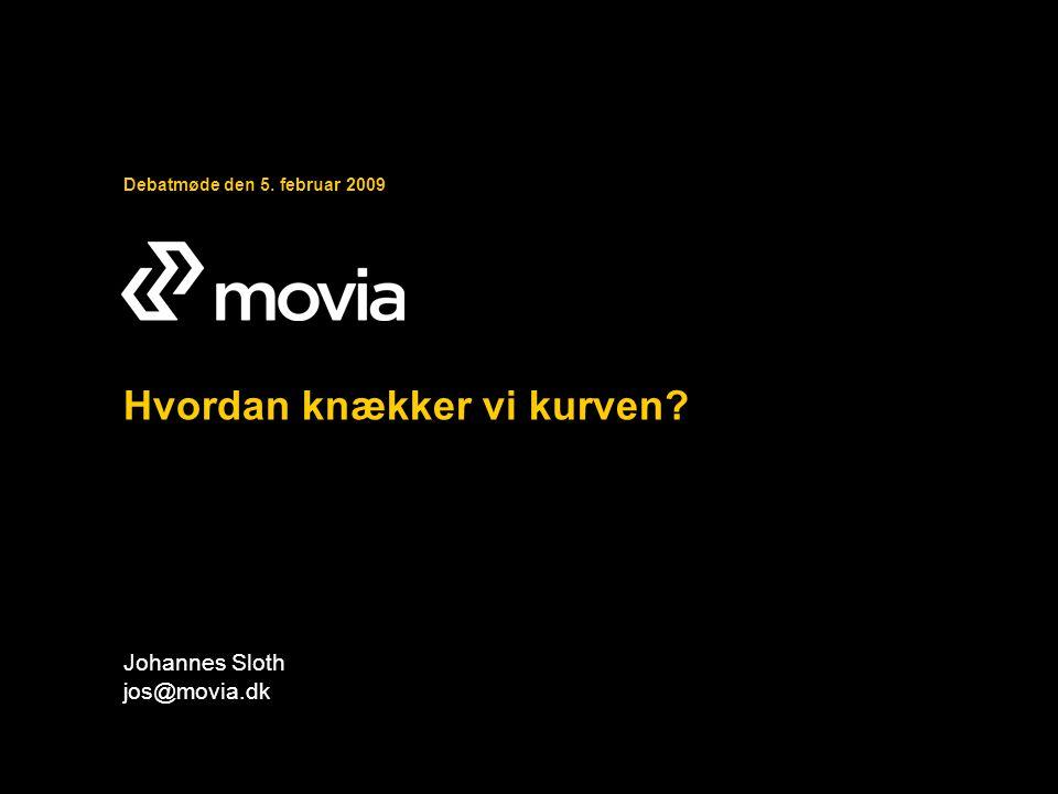 Debatmøde den 5. februar 2009 Hvordan knækker vi kurven Johannes Sloth jos@movia.dk