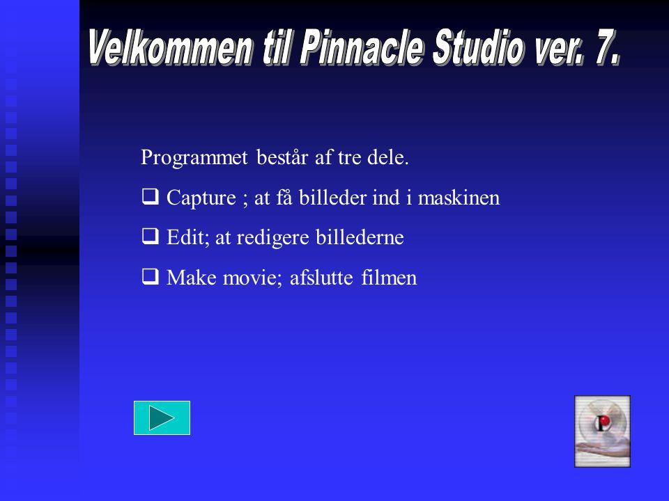 Programmet består af tre dele.