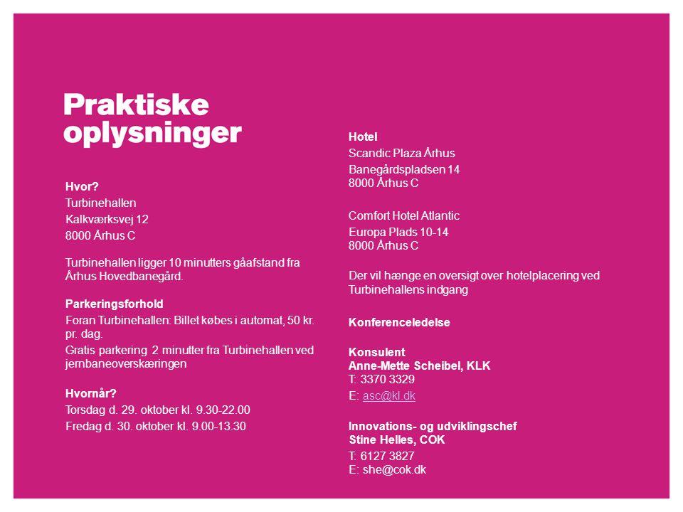 Rejsen til innovationens kerne _ Den 29. – 30. oktober 2009 Hvor.