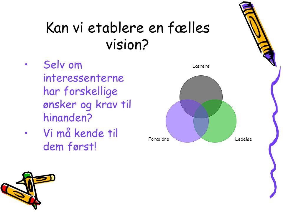 Kan vi etablere en fælles vision.