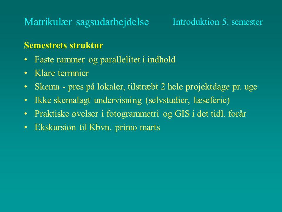 Matrikulær sagsudarbejdelse 3 faser –kortlægning (NB.