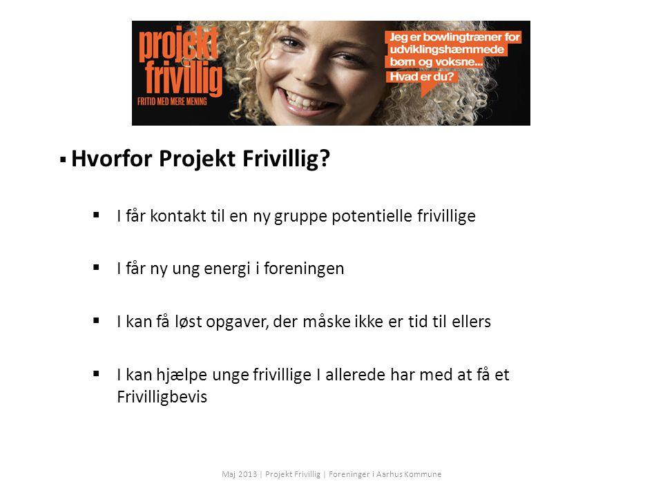 Hvorfor Projekt Frivillig.
