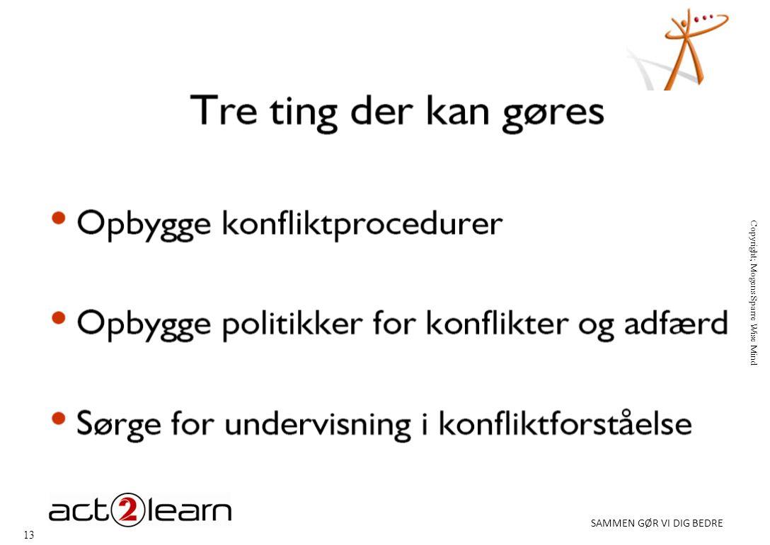 13 SAMMEN GØR VI DIG BEDRE Copyright; Mogens Sparre Wise Mind
