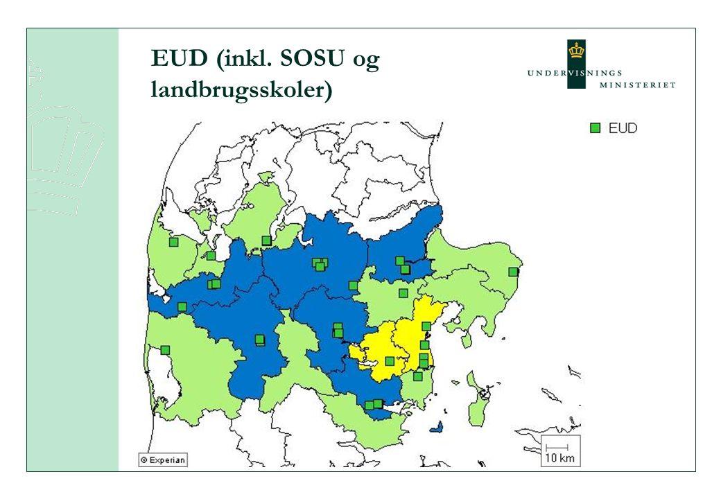 EUD (inkl. SOSU og landbrugsskoler)
