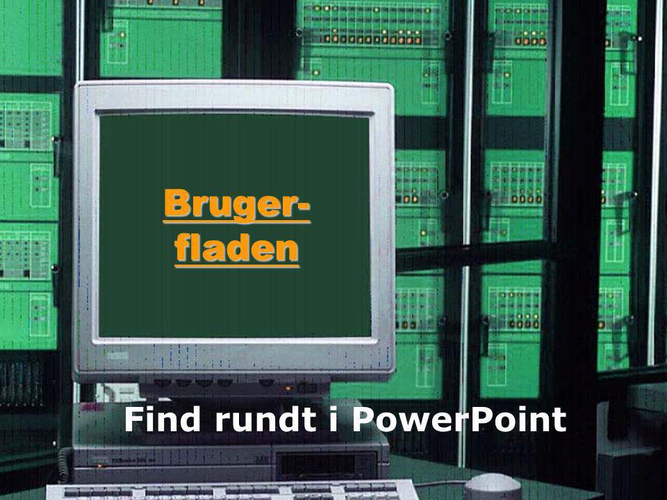 Bruger- fladen Find rundt i PowerPoint