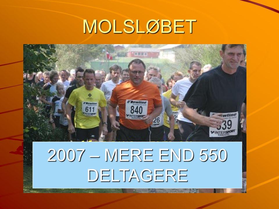 MOLSLØBET 2007 – MERE END 550 DELTAGERE