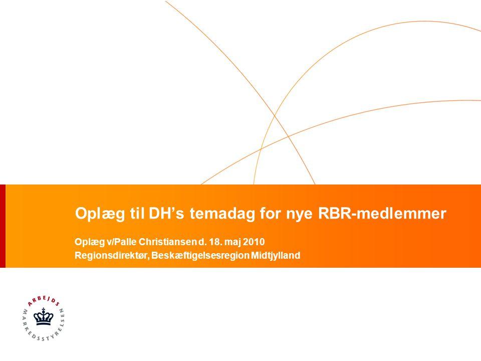 Oplæg til DH's temadag for nye RBR-medlemmer Oplæg v/Palle Christiansen d.