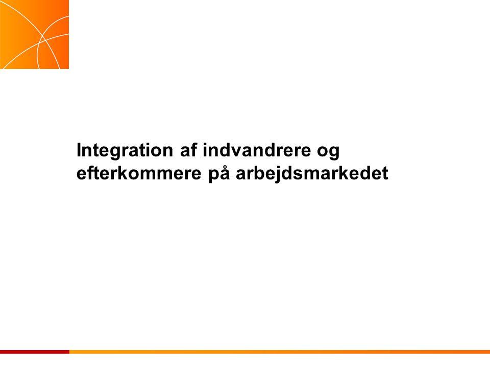 Integration af indvandrere og efterkommere på arbejdsmarkedet