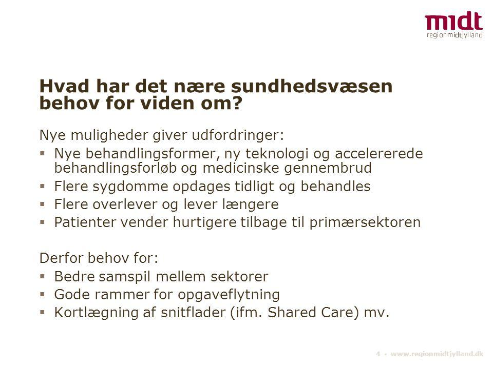 4 ▪ www.regionmidtjylland.dk Hvad har det nære sundhedsvæsen behov for viden om.