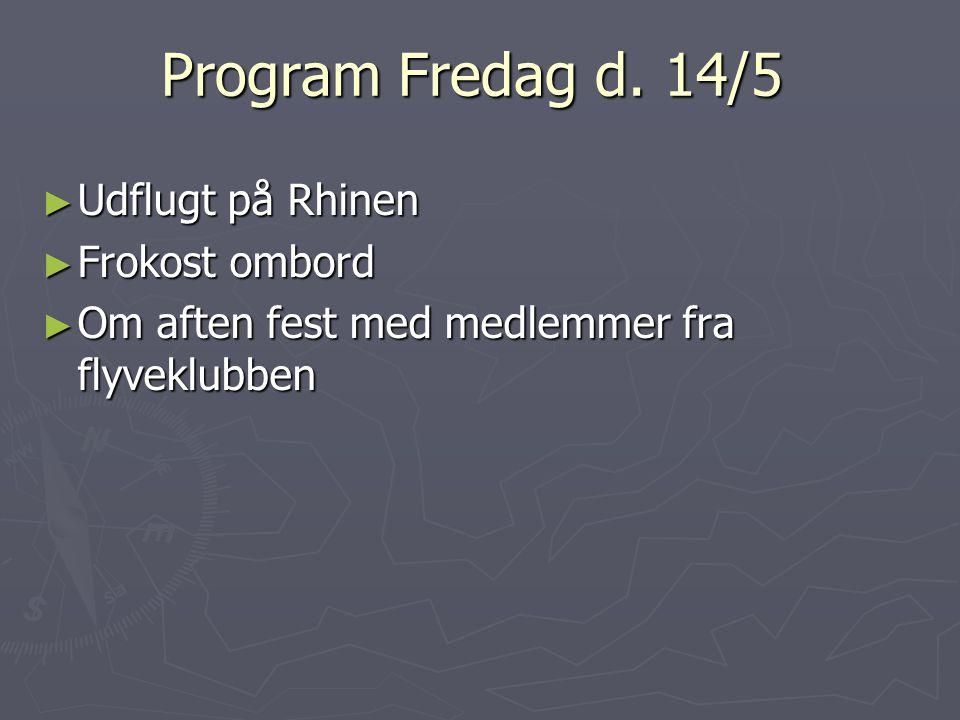 Program Fredag d.
