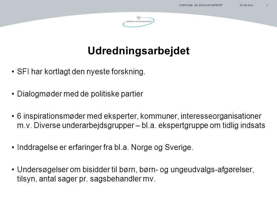 INDENRIGS- OG SOCIALMINISTERIET323-08-2014 Udredningsarbejdet SFI har kortlagt den nyeste forskning.