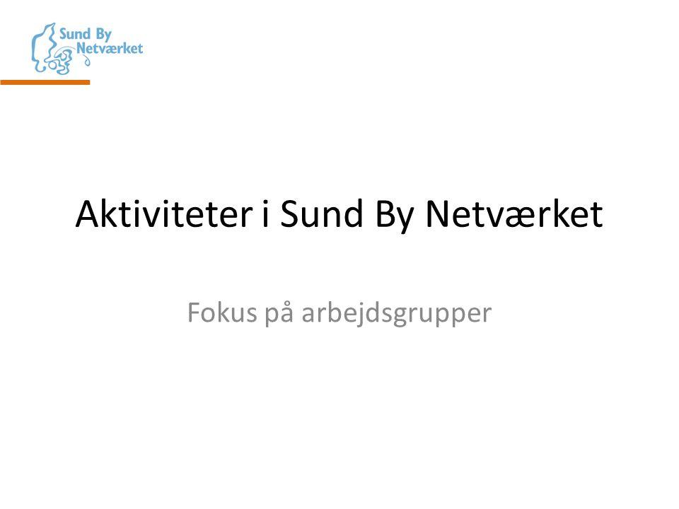 Aktiviteter i Sund By Netværket Fokus på arbejdsgrupper
