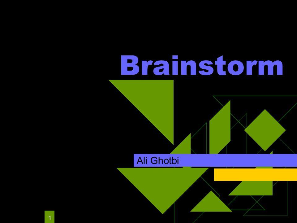 1 Brainstorm Ali Ghotbi