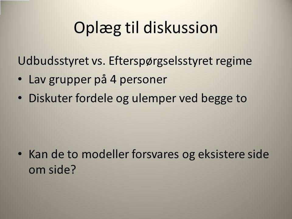 Oplæg til diskussion Udbudsstyret vs.