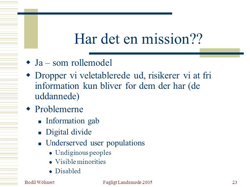 Bodil Wöhnert Fagligt Landsmøde 200523 Har det en mission .