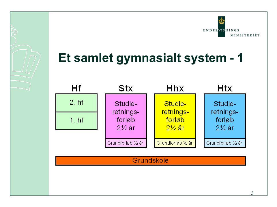 3 Et samlet gymnasialt system - 1