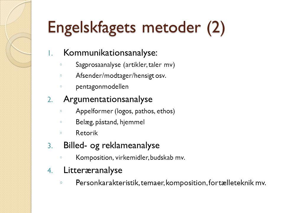Engelskfagets metoder (2) 1.