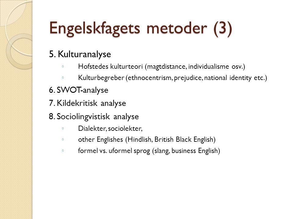 Engelskfagets metoder (3) 5.
