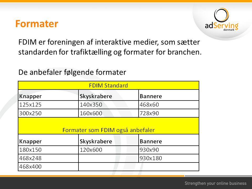 Formater FDIM er foreningen af interaktive medier, som sætter standarden for trafiktælling og formater for branchen.