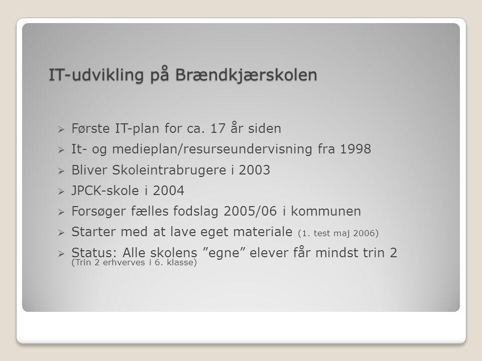 IT-udvikling på Brændkjærskolen  Første IT-plan for ca.
